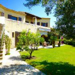 Villa des Oliviers garden view